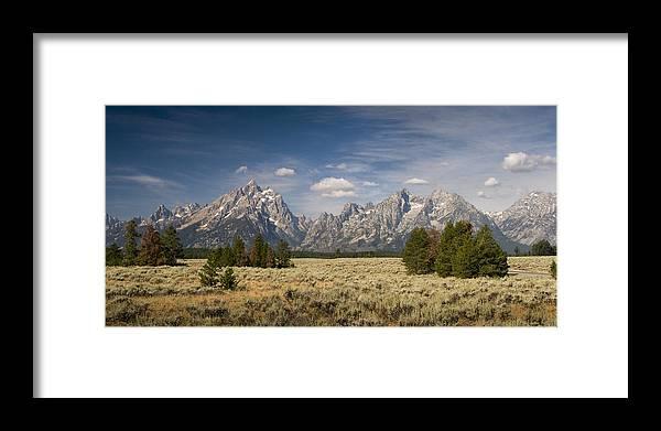 Grand Teton Framed Print featuring the photograph Grand Teton by Chad Davis