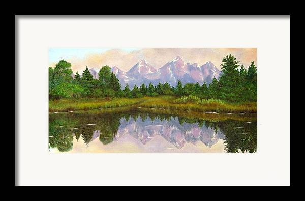 Landscape Framed Print featuring the painting Grand Tetons by Merle Blair
