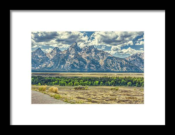 Jackson Framed Print featuring the photograph Grand Tetons National Park by John M Bailey