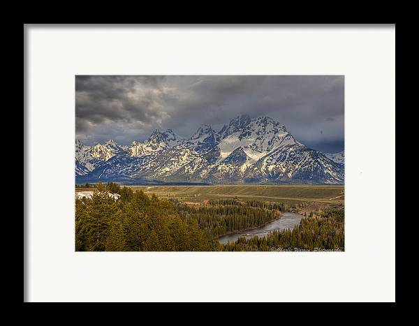 Grand Tetons Framed Print featuring the photograph Grand Tetons Snake River by Charles Warren