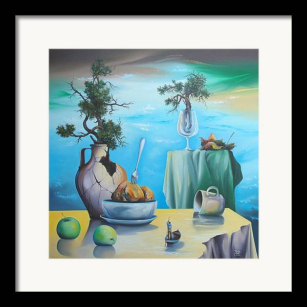 Framed Print featuring the painting Grand Titania by Zoltan Ducsai