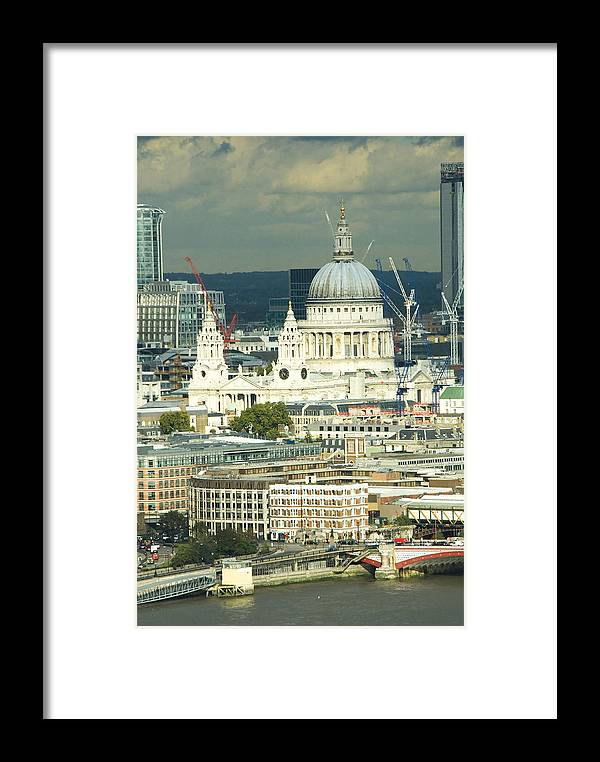 Thames River Framed Print featuring the photograph Grand View Of Central London by Charles Ridgway