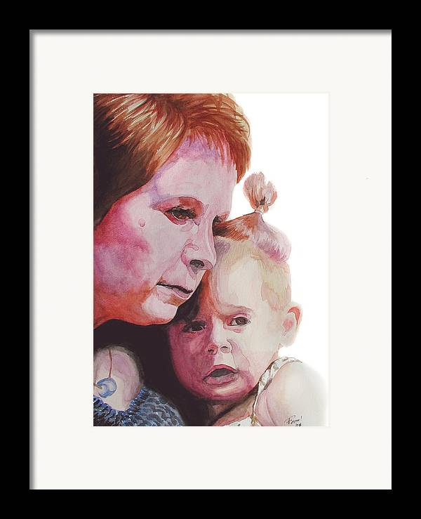 Baby Framed Print featuring the painting Grandchild by Ferrel Cordle