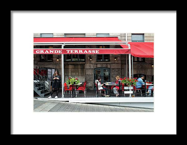 Montreal Framed Print featuring the photograph Grande Terrasse In Montreal by Michael Gallitelli
