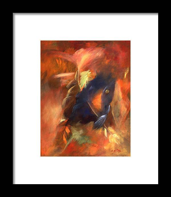 Grandfather Spirit. Abstract Framed Print featuring the painting Grandfathers Light by Zoe Landria