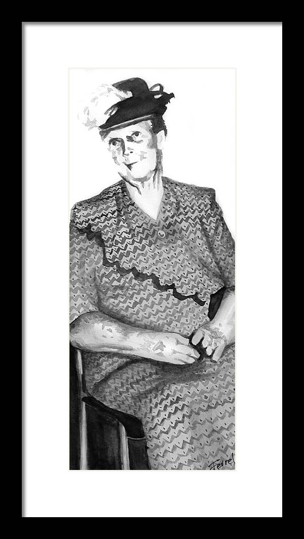 Grandmother Framed Print featuring the painting Grandma by Ferrel Cordle