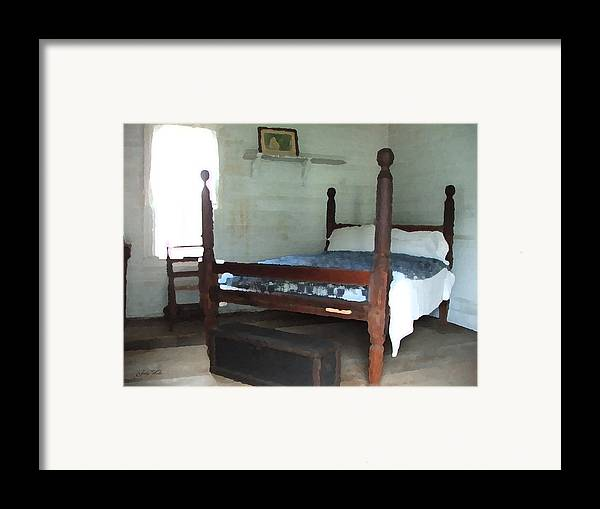 Old Framed Print featuring the photograph Grandmother's Bedroom by Judy Waller