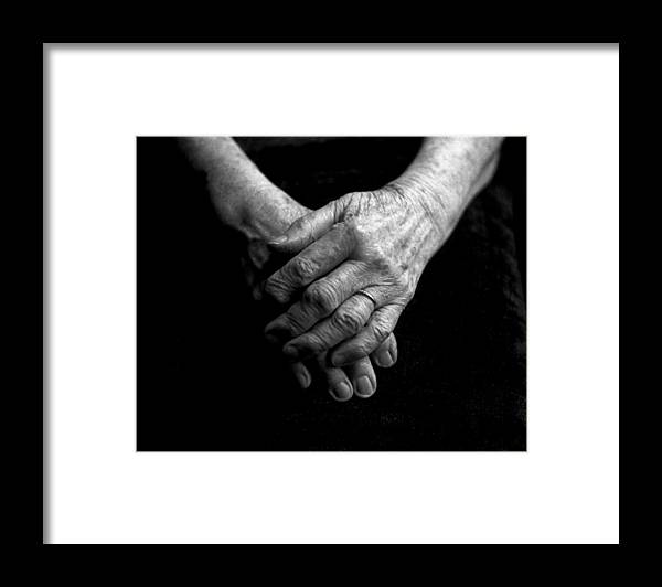 Grandmother Framed Print featuring the photograph Grandmother's Hands by Todd Fox