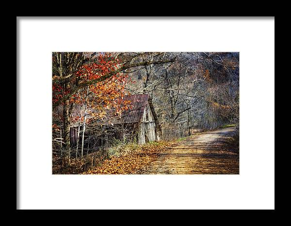 Appalachia Framed Print featuring the photograph Grandpa's Old Barn by Debra and Dave Vanderlaan