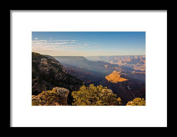 Grandview Sunset Grand Canyon National Park Arizona Az Framed Print featuring the photograph Grandview Sunset - Grand Canyon National Park - Arizona by Brian Harig