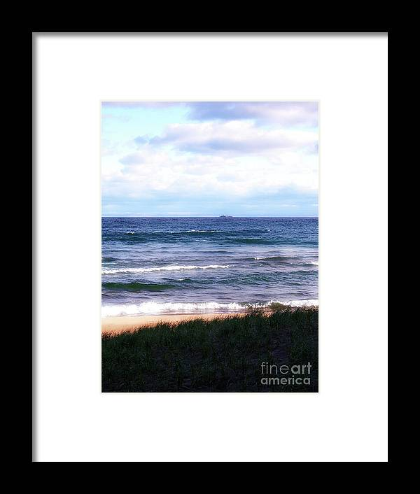 Little Presque Isle Framed Print featuring the photograph Granite Island by Phil Perkins