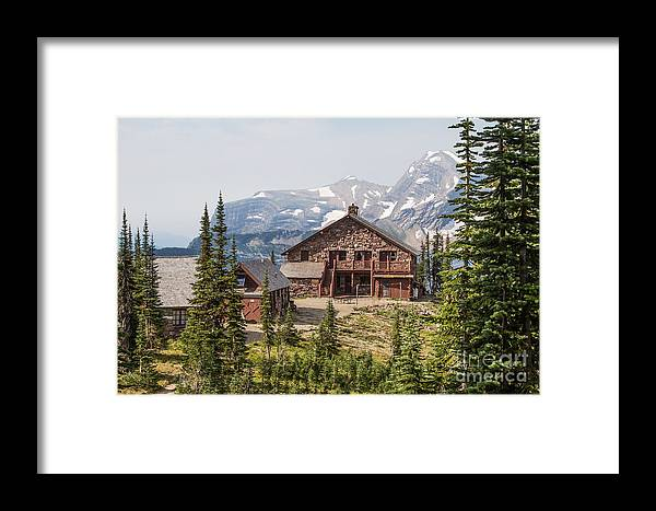 Big Sky Country Framed Print featuring the photograph Granite Park Chalet And Heaven's Peak 3 by Katie LaSalle-Lowery