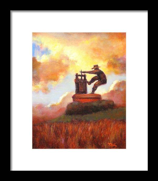 Wine Painting Framed Print featuring the painting Grape Crusher Sunset Cloud Napa Valley by Takayuki Harada