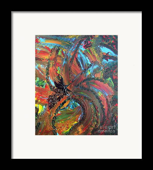 Grapes Framed Print featuring the painting Grape Elation by Karen L Christophersen