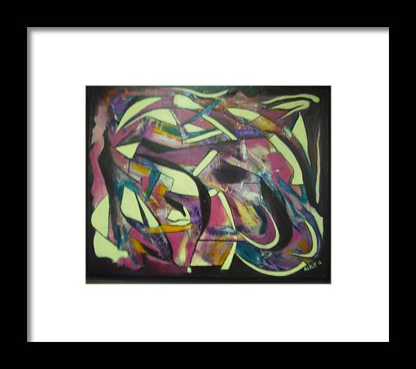 Abstract Framed Print featuring the painting Grape Friut by Anthony Hurt