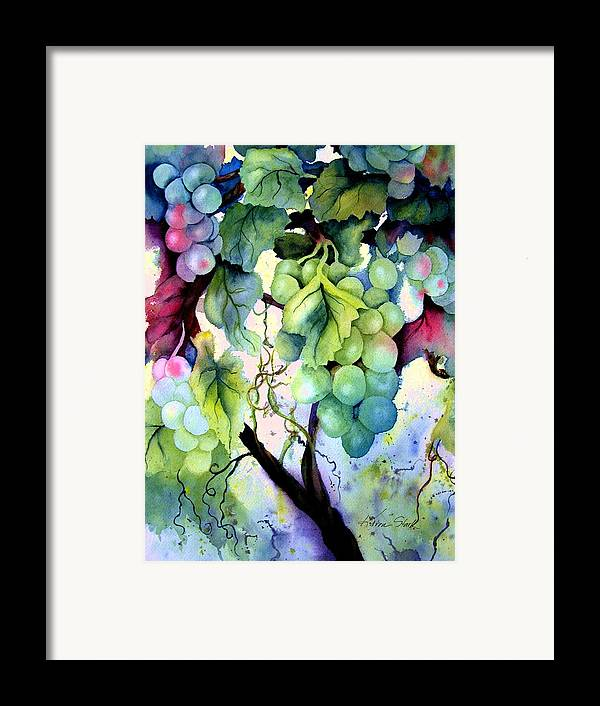 Grapes Framed Print featuring the painting Grapes II by Karen Stark