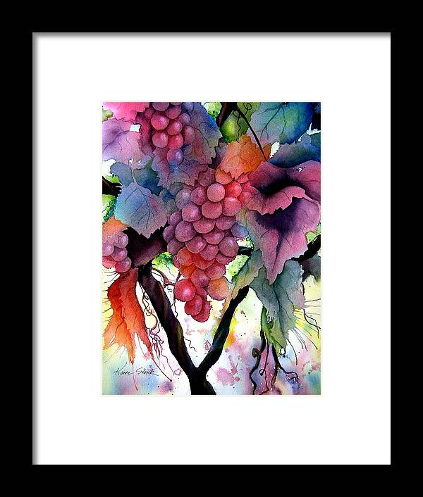 Grape Framed Print featuring the painting Grapes IIi by Karen Stark