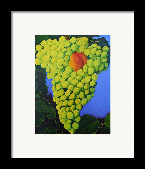 Grapes Framed Print featuring the painting Grapes by Karen Aune