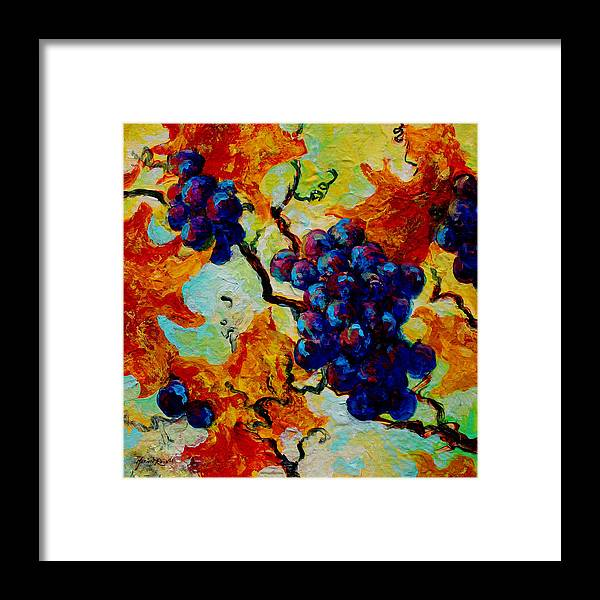 Grapes Framed Print featuring the painting Grapes Mini by Marion Rose