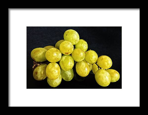 Grapes Framed Print featuring the photograph Grapes by Robert Ullmann