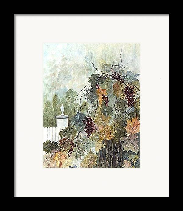Fruit Framed Print featuring the painting Grapevine Topiary by Ben Kiger