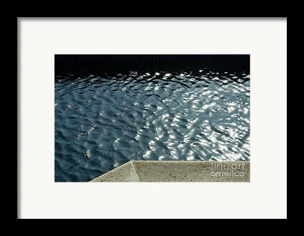 Water Framed Print featuring the photograph Graphic Pool by Julia Hiebaum