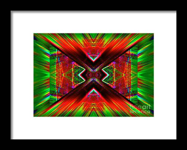 Lorles Lifestyles Framed Print featuring the digital art Anguish by Lorles Lifestyles