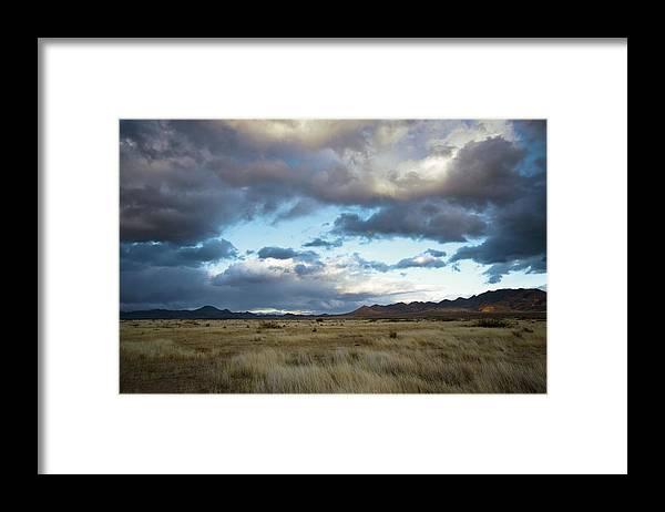 Portal Framed Print featuring the photograph Grasslands Near Portal by Bob Gibbons