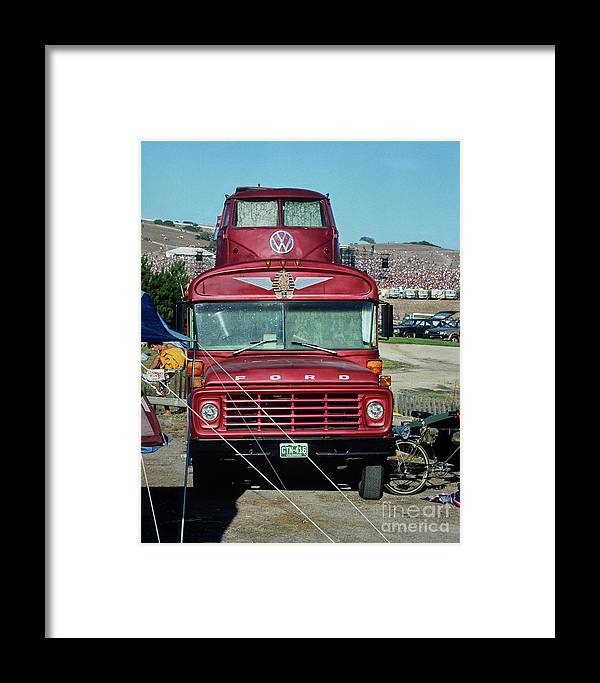 Grateful Dead Tour Bus Framed Print