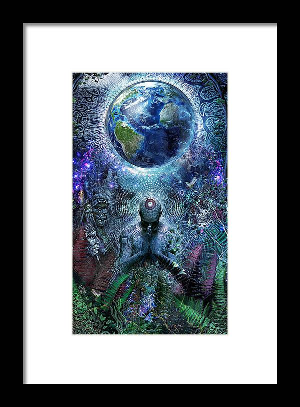 Cameron Gray Framed Print featuring the digital art Gratitude For The Earth And Sky by Cameron Gray