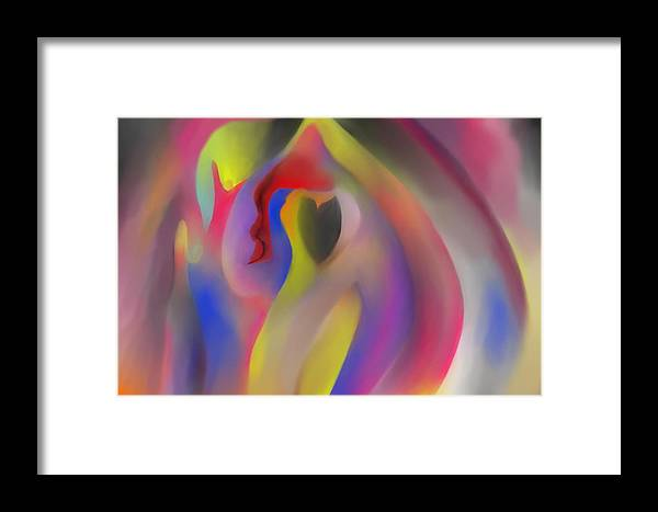 Abstract Framed Print featuring the painting Gratitude by Peter Shor