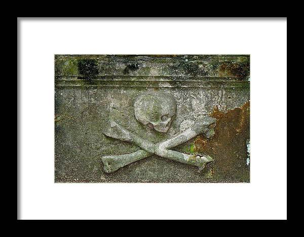 Grave Framed Print featuring the photograph Grave Business 2 by Robert Joseph