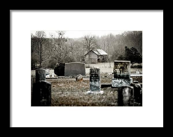 Graveyard Framed Print featuring the photograph Graveyard Barn by Chris Jones