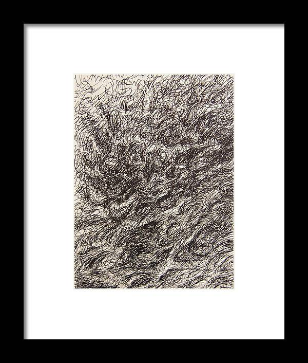 Landscape Framed Print featuring the drawing Gravity by Uwe Schein