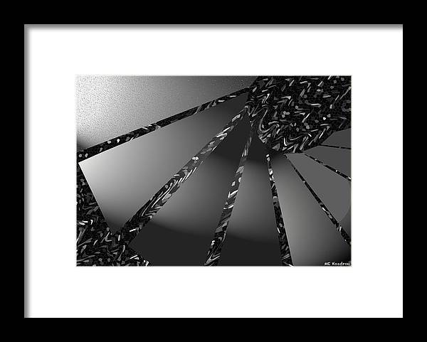 Modern Framed Print featuring the digital art Grayed Out by ME Kozdron