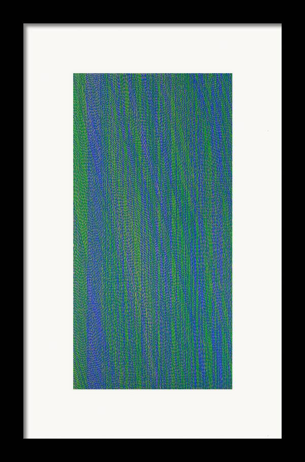 Green Blue Abstract Pattern Framed Print featuring the painting Grbl79 by Joan De Bot