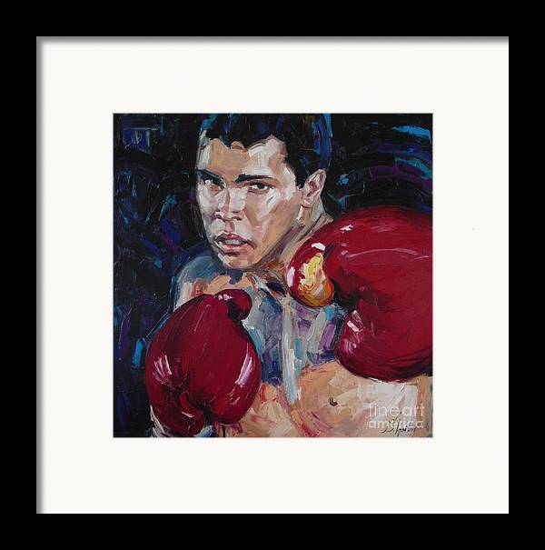 Figurative Framed Print featuring the painting Great Ali by Sergey Ignatenko