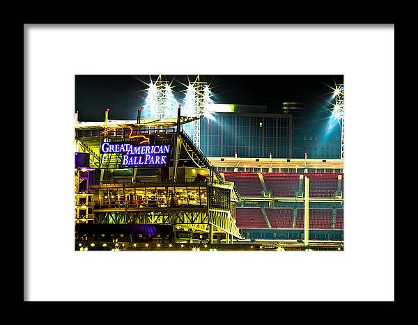 Great American Ballpark Framed Print featuring the photograph Great American Ballpark by Keith Allen