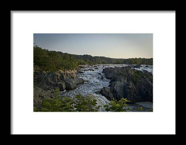 Virginia Framed Print featuring the photograph Great Falls by Christina Durity