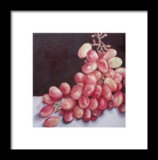 Still Life Framed Print featuring the painting Great Grapes 2 by Irene Corey