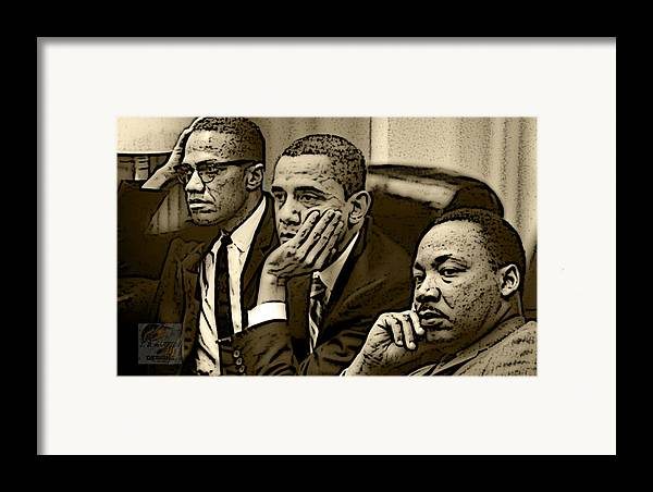 Martin Framed Print featuring the digital art Great Minds by Tredarion Hampton