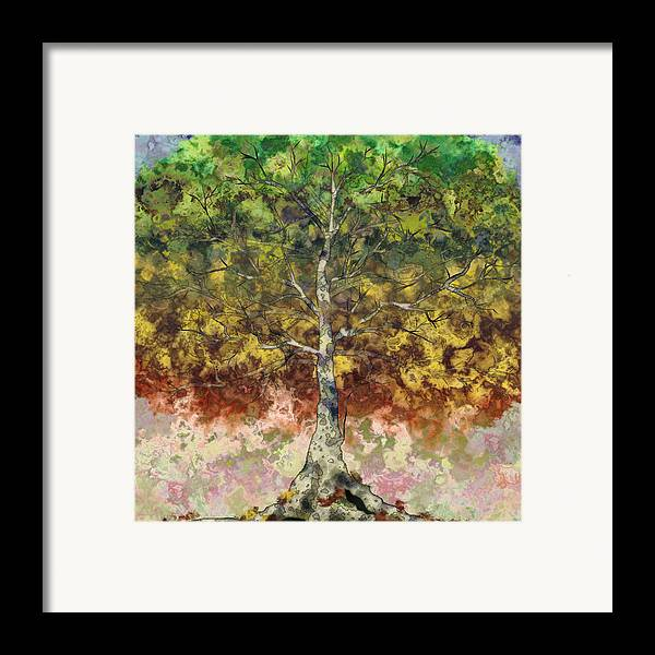 Sycamore Framed Print featuring the digital art Great Sycamore by Gae Helton