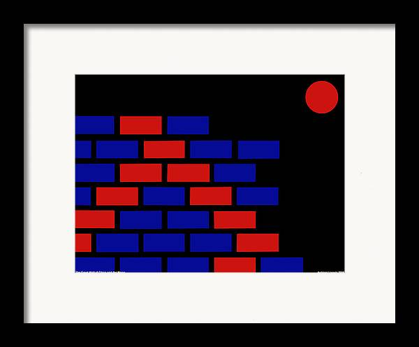 Great Wall Of China Framed Print featuring the digital art Great Wall Of China by Asbjorn Lonvig