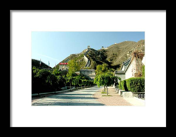 Landscape Framed Print featuring the photograph Great Wall Of China by Ralph Perdomo