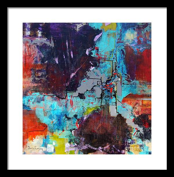 Abstract Framed Print featuring the painting Greater London by Jane Ferguson