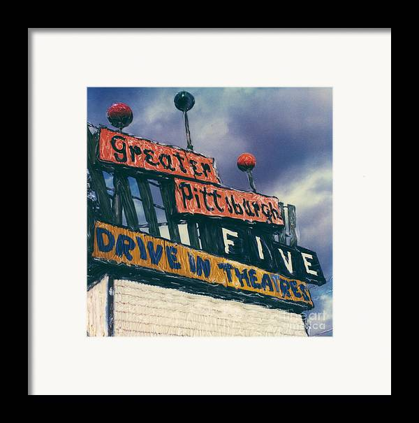 Polaroid Framed Print featuring the photograph Greater Pittsburgh Five Drive-in by Steven Godfrey