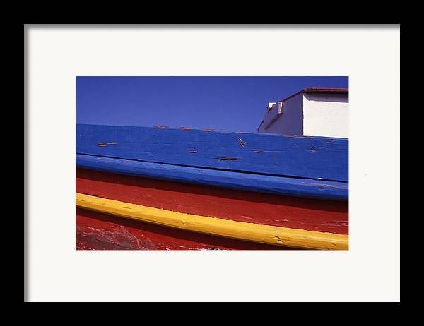Europe Framed Print featuring the photograph Greece. Colorful Fishing Boat by Steve Outram