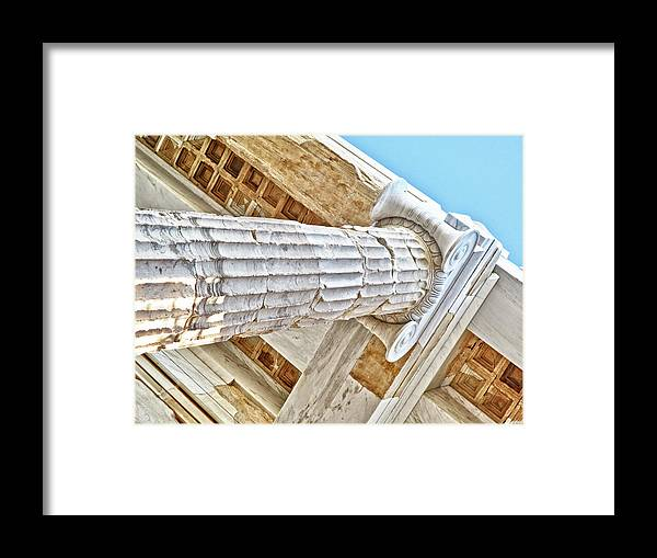 Architecture Framed Print featuring the photograph Greece by Linda Pulvermacher
