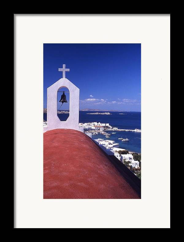Church Framed Print featuring the photograph Greece. Mykonos by Steve Outram