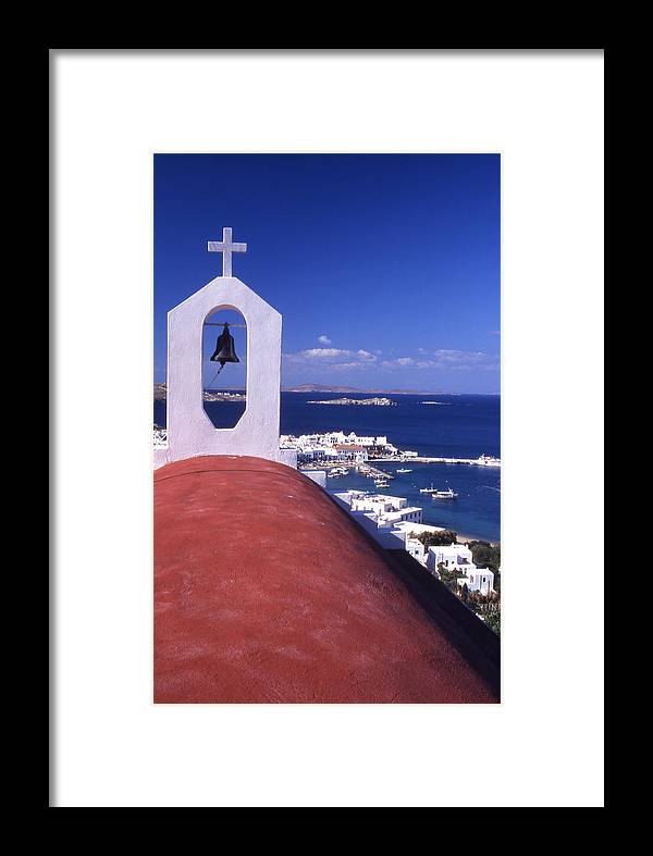 Church Framed Print featuring the photograph Greece. Mykonos by Steve Outram